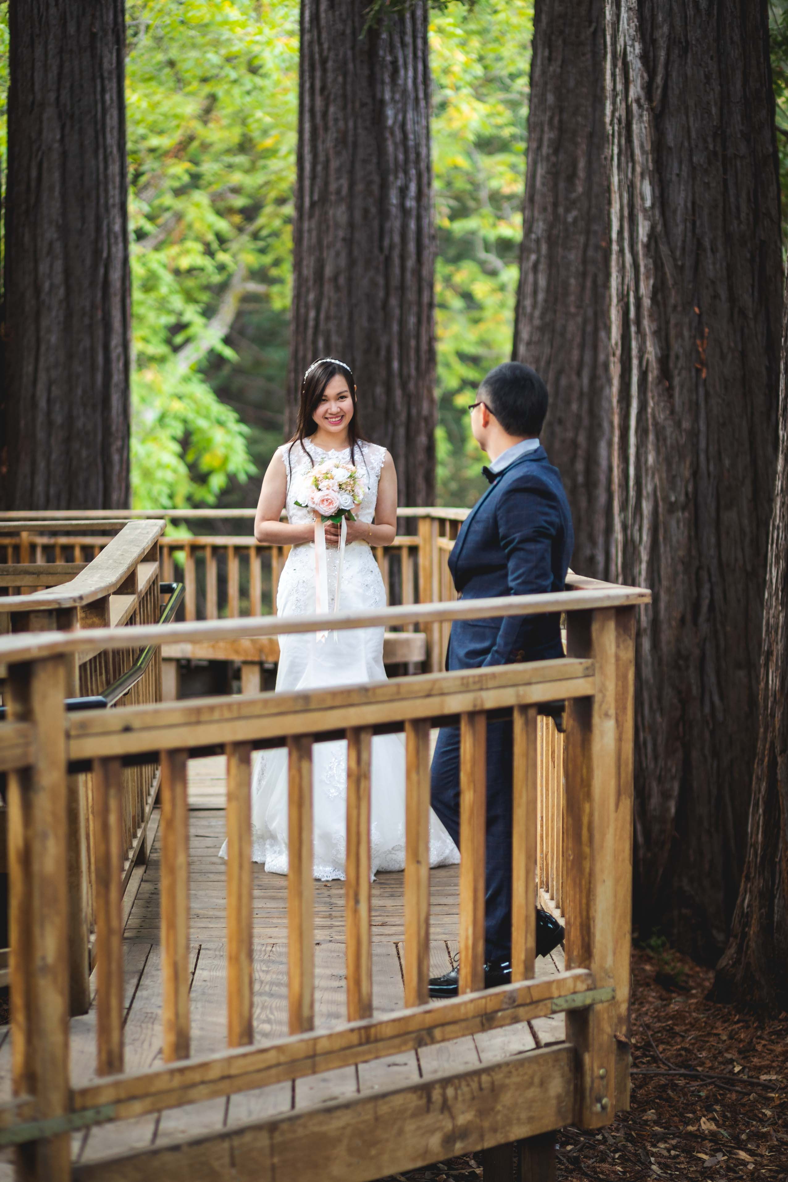 Sanborn county park bride and groom prewedding photo