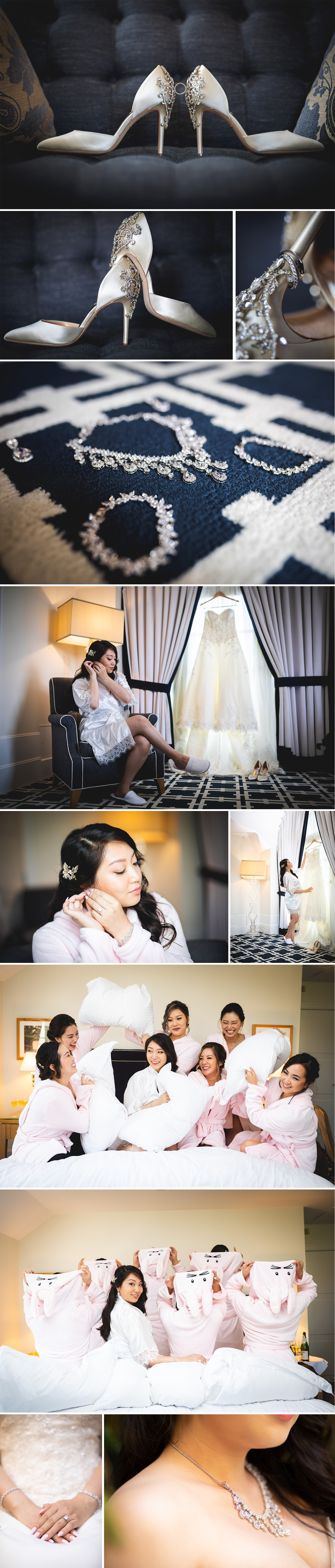 chinese bride getting ready at garden court hotel in palo alto