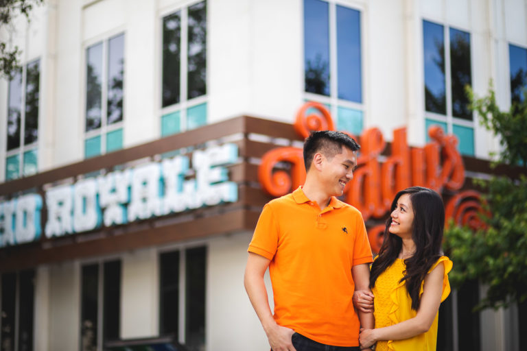 Engagement shoot at facebook headquarter campus