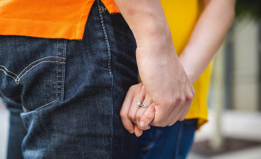 Engagement shoot at facebook headquarter campus