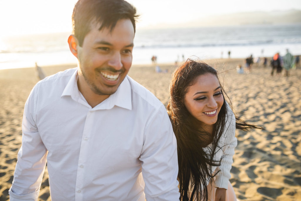 engagement photoshoot baker beach