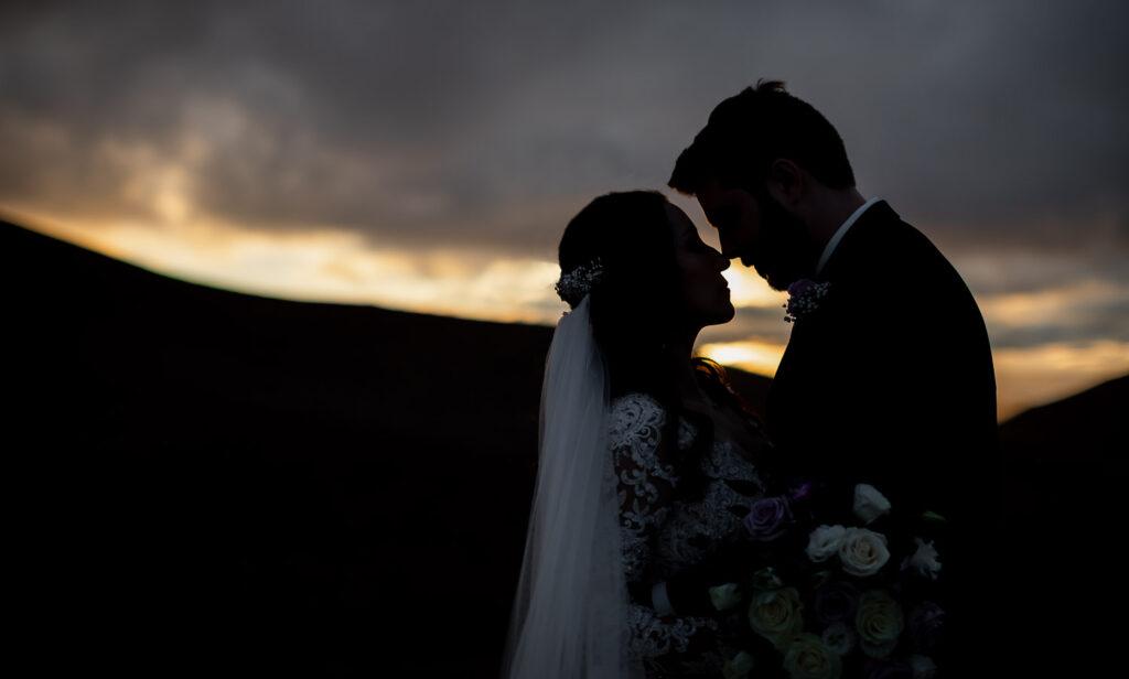 nella terra wedding sunset
